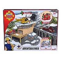 Simba 109251037 - Feuerwehrmann Sam Adventskalender 2018 / Mit großer Spielszenerie / Mit Weihnachtsgeschichte / 24 Überraschungen / Mit 3 Figuren