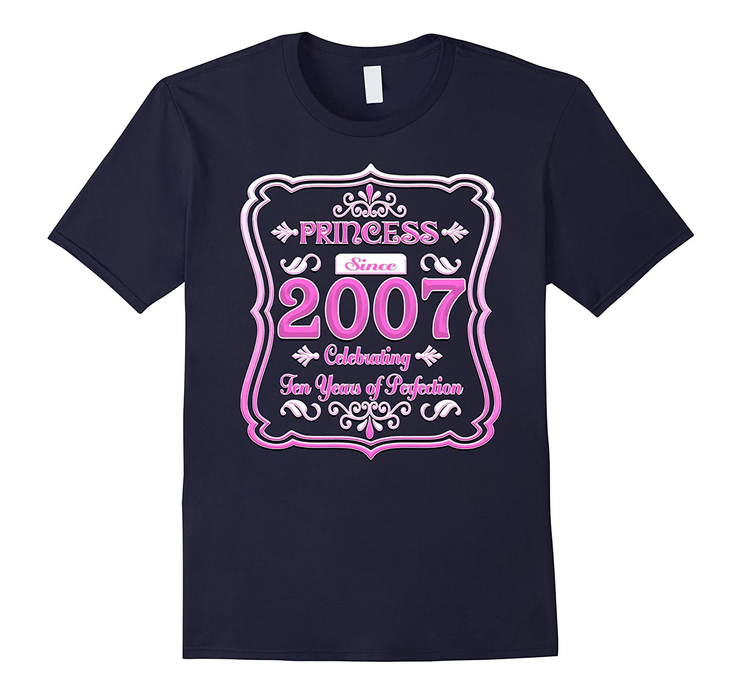 Vintage Princess Pink Made in 2007 Girls 10th Birthday Shirt-CD
