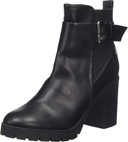 Ally Leather Look Cleated Ankle Boot