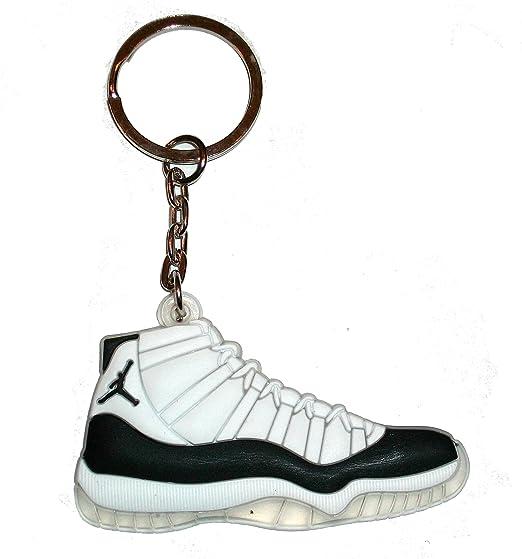 Air Jordan llavero con 11/llavero con muñeca - de color blanco/negro