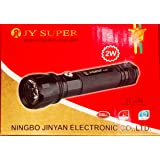 Jy Super 859 Flashlight Metal Alloy Solid Body Torch - 1200 mAh Capacity, 3.7V Battery