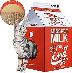 ScratchMe Cat Condo Scratcher Post Cardboard