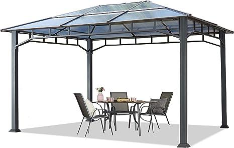 Cenador de Jardín 3x4 m Marco de Aluminio Aprox. 8mm ...
