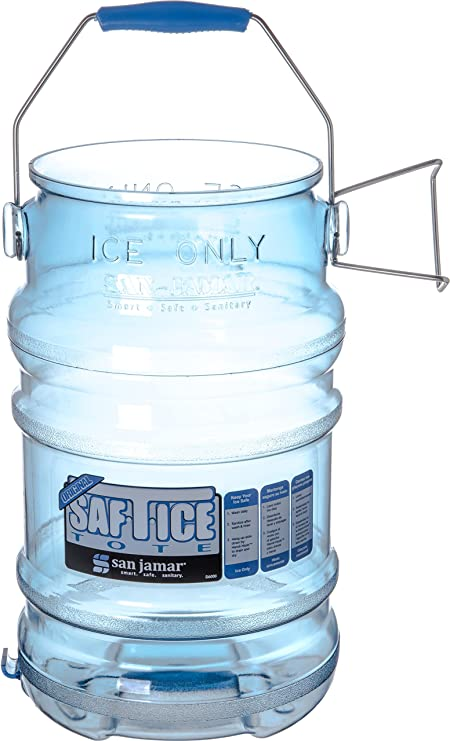 San Jamar SI6100 Original and Shorty Saf-T-Ice Tote 5 Gallon Capacity