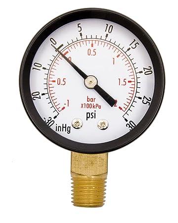 Amazon Com 2 Utility Vacuum Pressure Gauge Wog 14 Npt Lwr