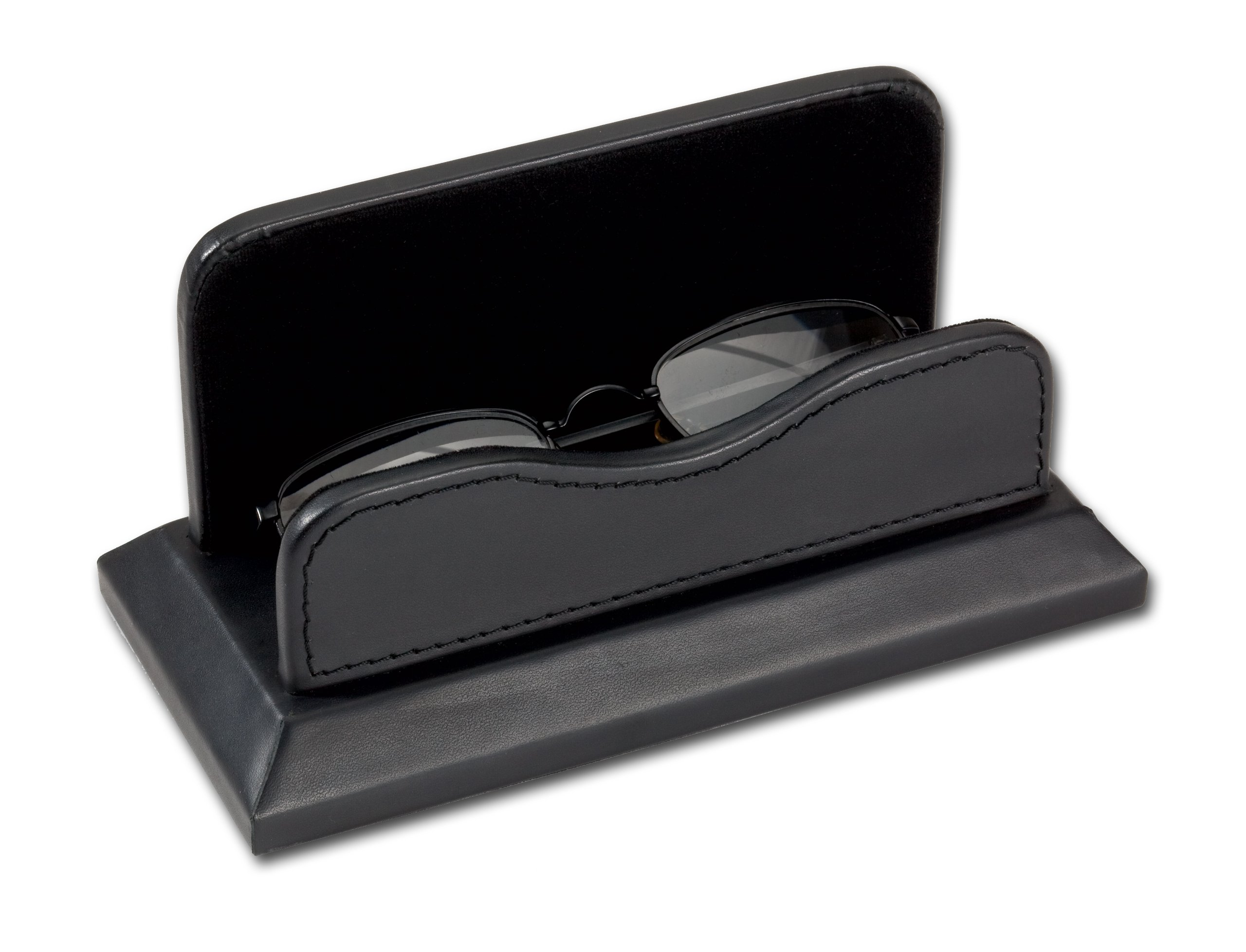 Black Leather Eye Glass Holder by Dacasso