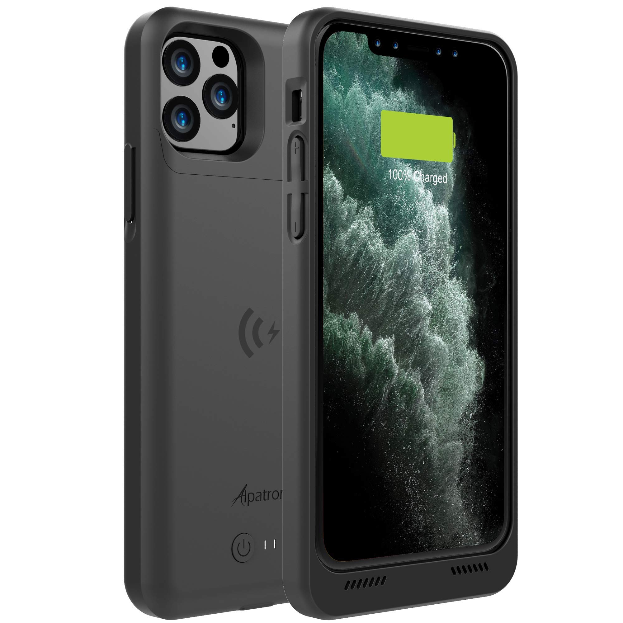 Alpatronix iPhone 11 Pro Battery Case, 4200mAh Slim Portable Protective Extended Charger Cover with Qi Wireless Charging Compatible with iPhone 11 Pro (5.8 inch) BXXI Pro - (Black) by Alpatronix