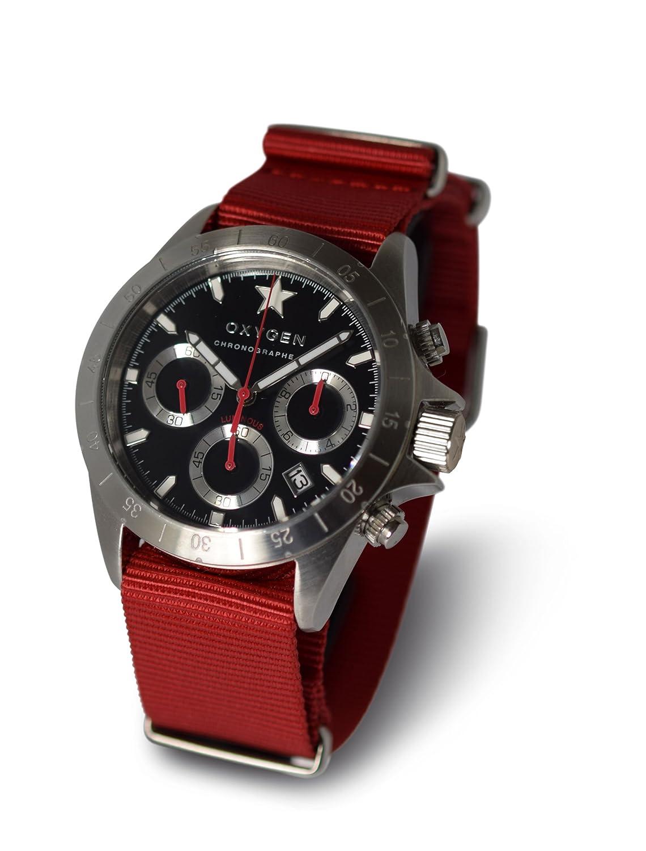 OXYGEN unisex-Armbanduhr SPRINT 42 Chronograph Quarz Nylon EX-C-SPR-42-NN-RE