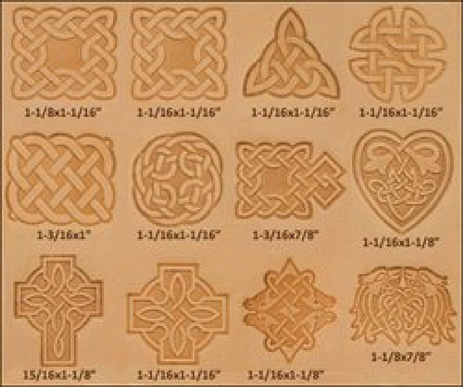 Tandy Leather Craftool Celtic Stamp Set of 12 8161-00