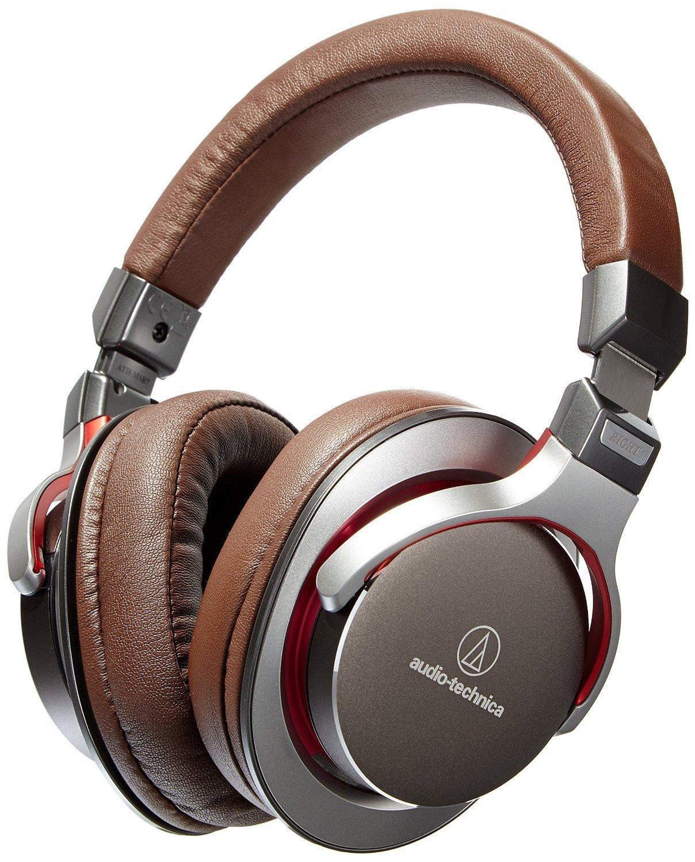 Audio-Technica ATH-MSR7GM SonicPro Over-Ear High-Resolution Audio Headphones, Gun Metal Gray (Certified Refurbished) by Audio-Technica