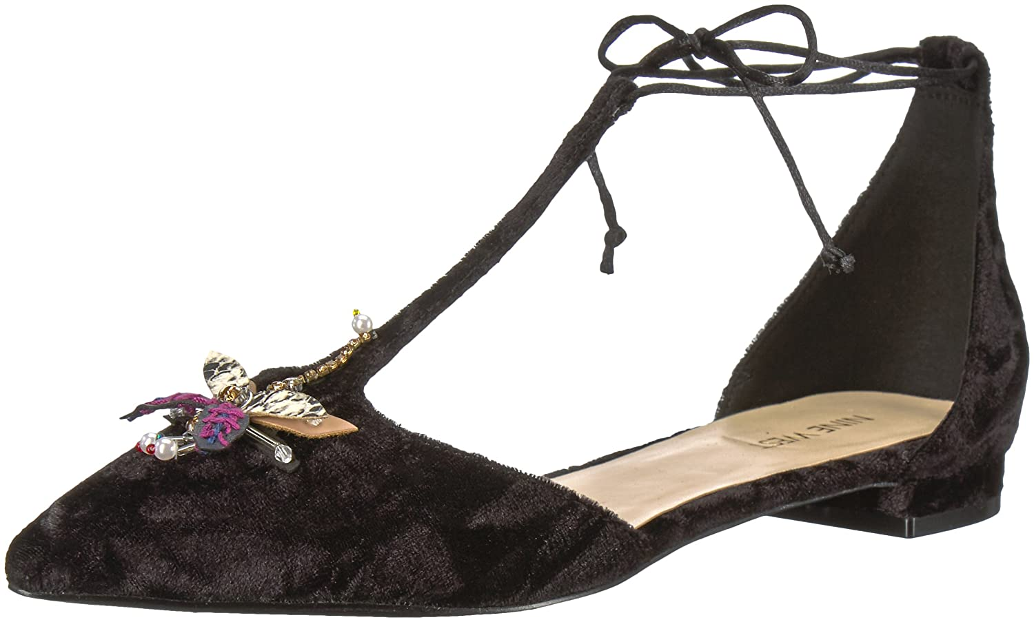 Nine West Women's Amethyst Fabric Pump B076B4PG49 11 B(M) US|Black