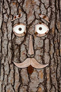 Hilarious Home 6-Piece Tree Face Set Whimsical Outdoor Garden Decoration
