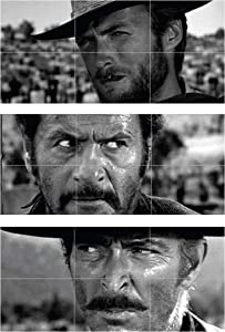 Doppelganger33 LTD The Good The Bad and The Ugly Clint Eastwood 3ss XXXL Wall Art Multi Panel Poster Print 50x23 inches