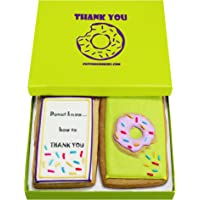 Gourmet Cookie Thank You Gift Set   2 Delicious Large 2.5 x 4.5 in Vanilla Sugar Cookies Hand-Decorated With Royal Icing…