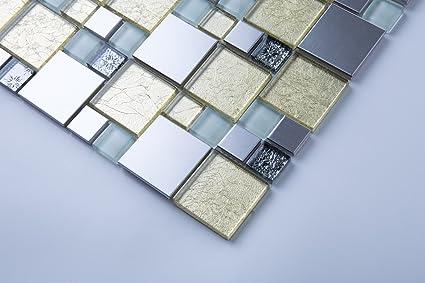 Cm cm modello vetro e acciaio inossidabile spazzolato