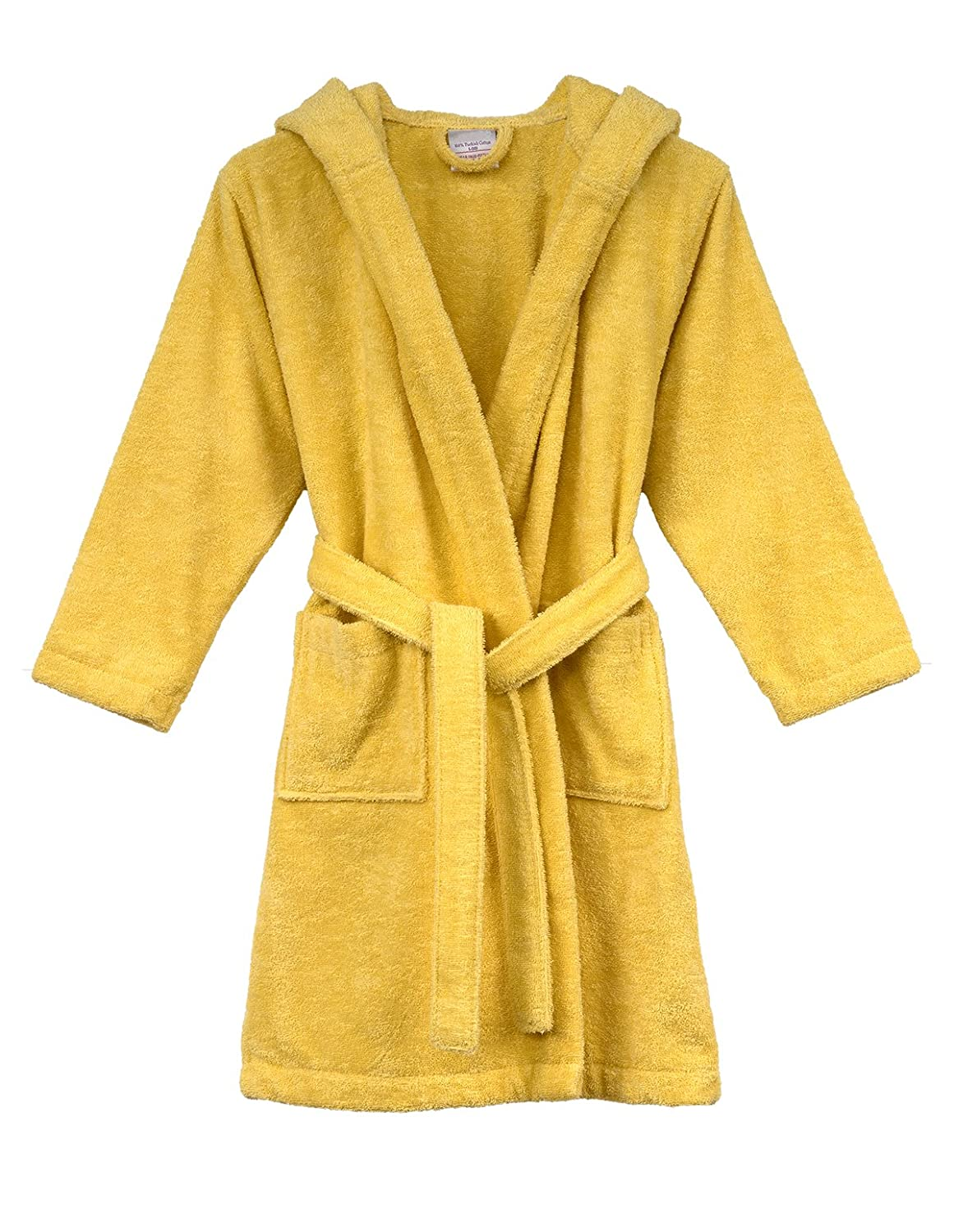 TowelSelections Turkish Cotton Kids Hooded Terry Bathrobe Made in Turkey GKB01-SNS-XS
