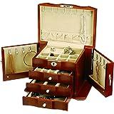 Seya Walnut Wooden Jewelry Box w/ Lock and Key