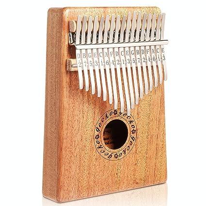Gecko tono de caoba madera 17 teclas Kalimba, profesional de alta calidad dedo pulgar Piano