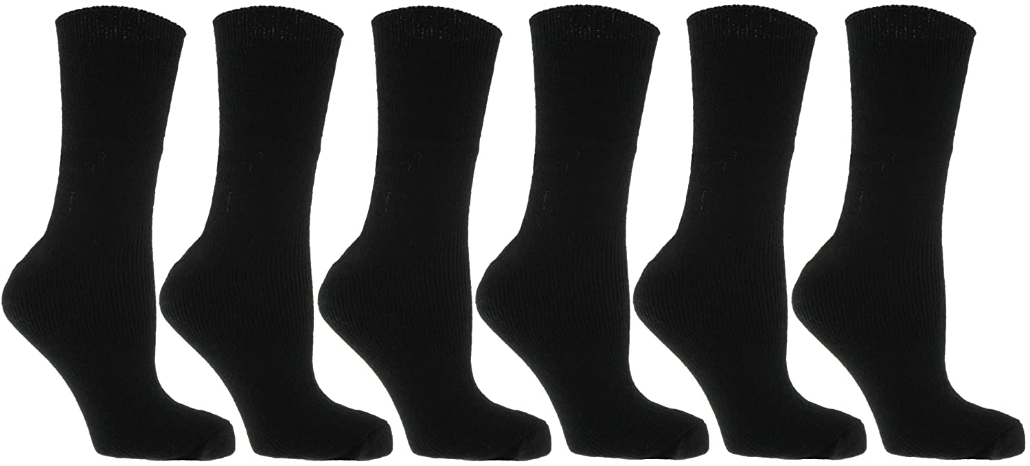 6 pairs mens thermal socks size 6-11 Anucci H1-JC16-OU1Y
