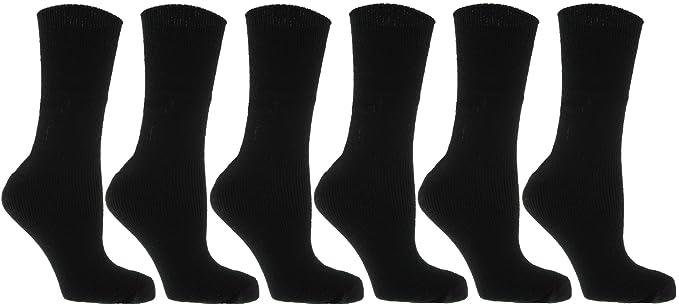 Zest de calcetines térmicos para mujer, talla 37-41, negro, 6 pares: Amazon.es: Ropa y accesorios