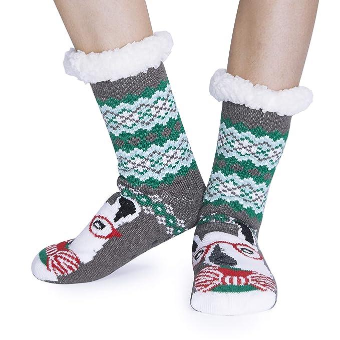 Winter Cartoon Non-slip Pet Christmas Socks Anti-Slip Knit Socks Skid Bottom