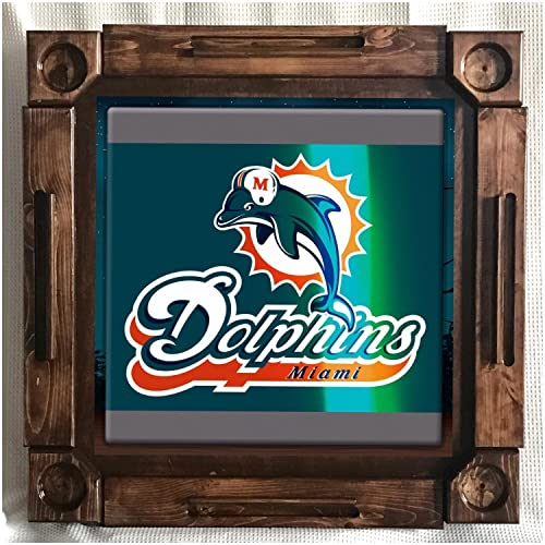 Wooden/wood Dominoes/domino Table/mesa Custom Made Dolphins Miami