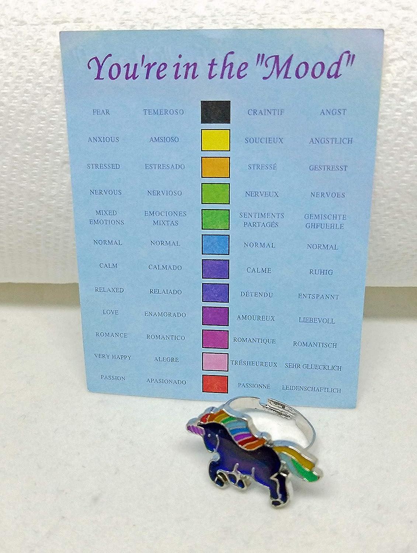 Toys & Games Adjustable Magical Unicorn Mood Ring Dress Up ...