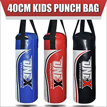 1.25FT suitable for 3 to 4 years children ONEX KidsJunior Filled Punch Bag set Kickboxing MMA Training and 2oz boxing gloves 40 CM Long