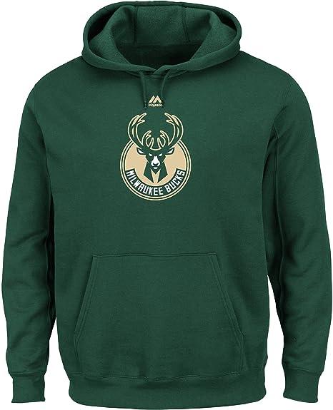 check out 60516 5edc6 VF LSG Milwaukee Bucks Mens Green Majestic Logo 2 Hoodie Sweatshirt