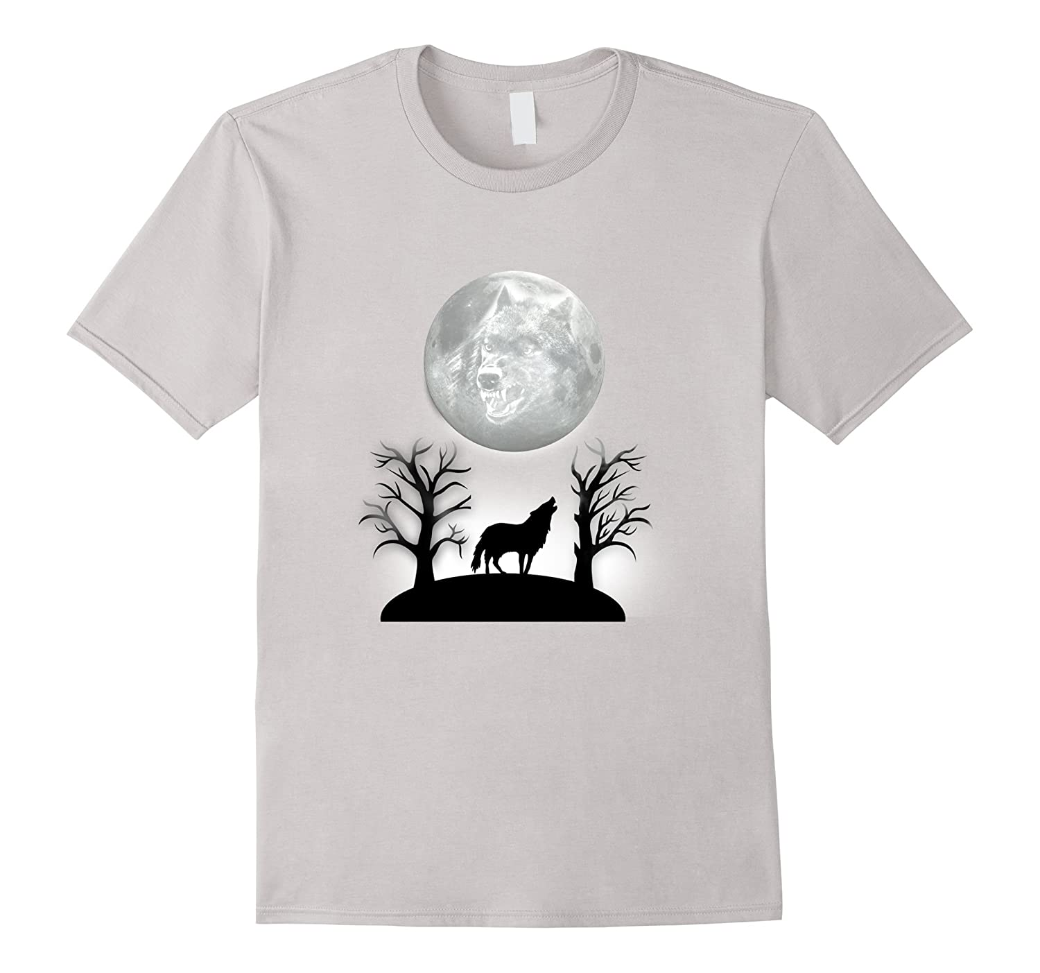 Wolf howling at the full moon t shirt goatstee for Amazon review wolf shirt