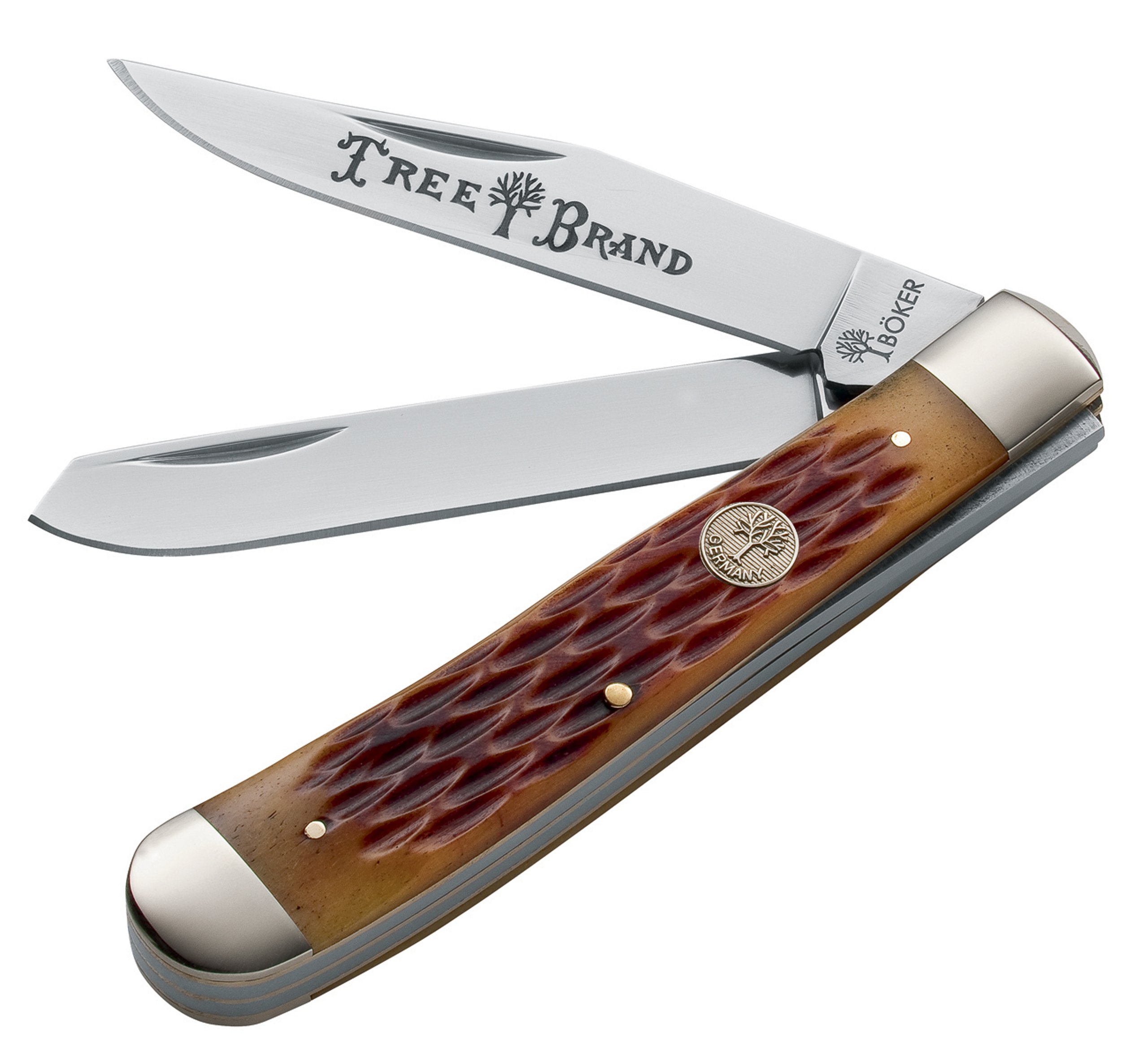 Boker 110732 Ts Trapper Pocket Knife with 3 In. Straight Edge Blade, Brown