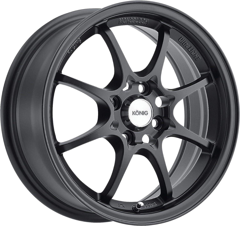Konig Helium YHI MATTE BLACK Wheel (15x6.5____/4x100mm)