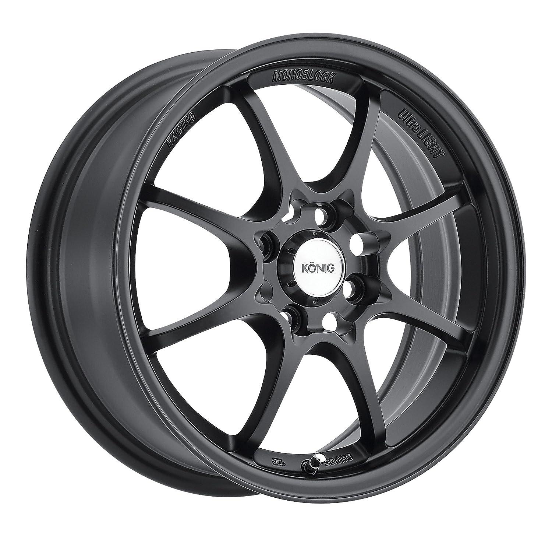 Amazon Konig Helium YHI MATTE BLACK Wheel 15x6 5 4x100mm