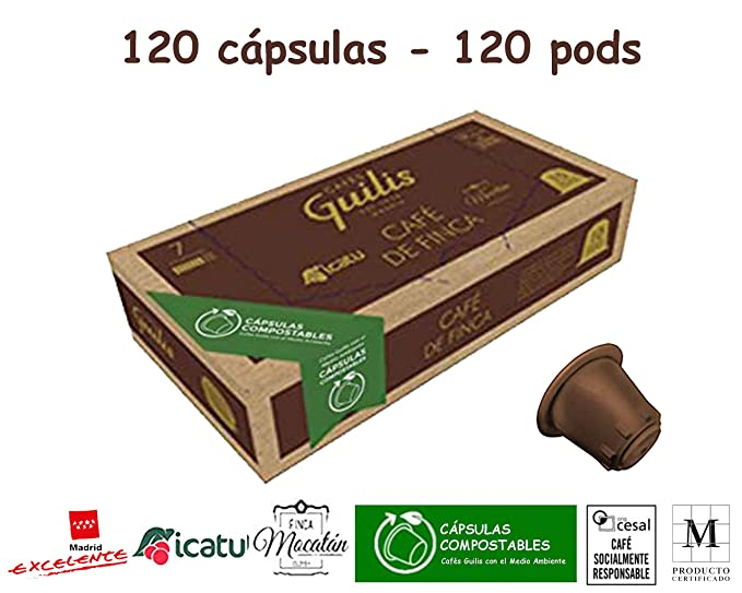 CAFES GUILIS Cápsulas Compostables - Biodegradables Café De Finca ...