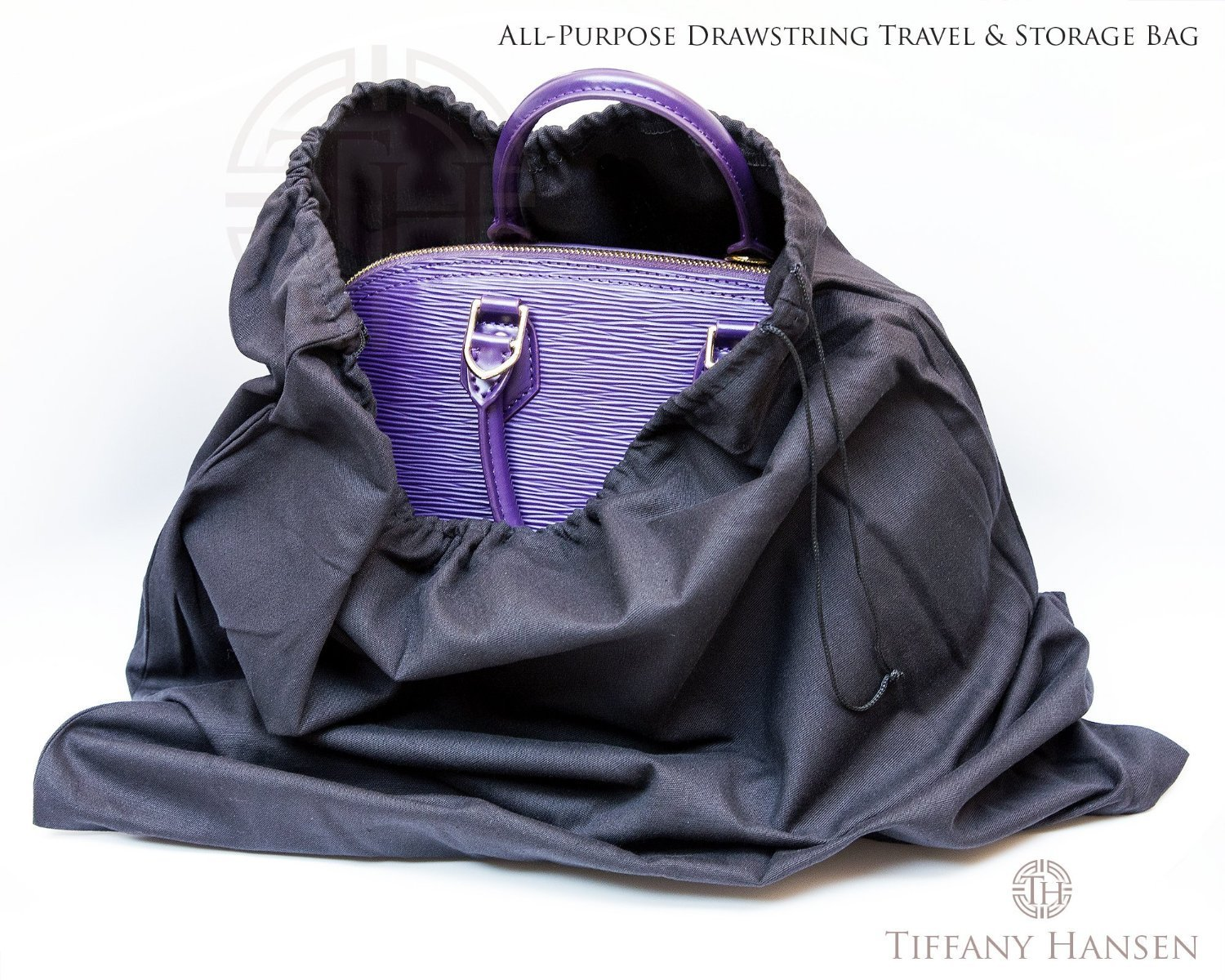 Tiffany Hansen's Cotton Large Drawstring Shoe & Purse Travel Storage Bag (12) by Tiffany Hansen Designs (Image #1)