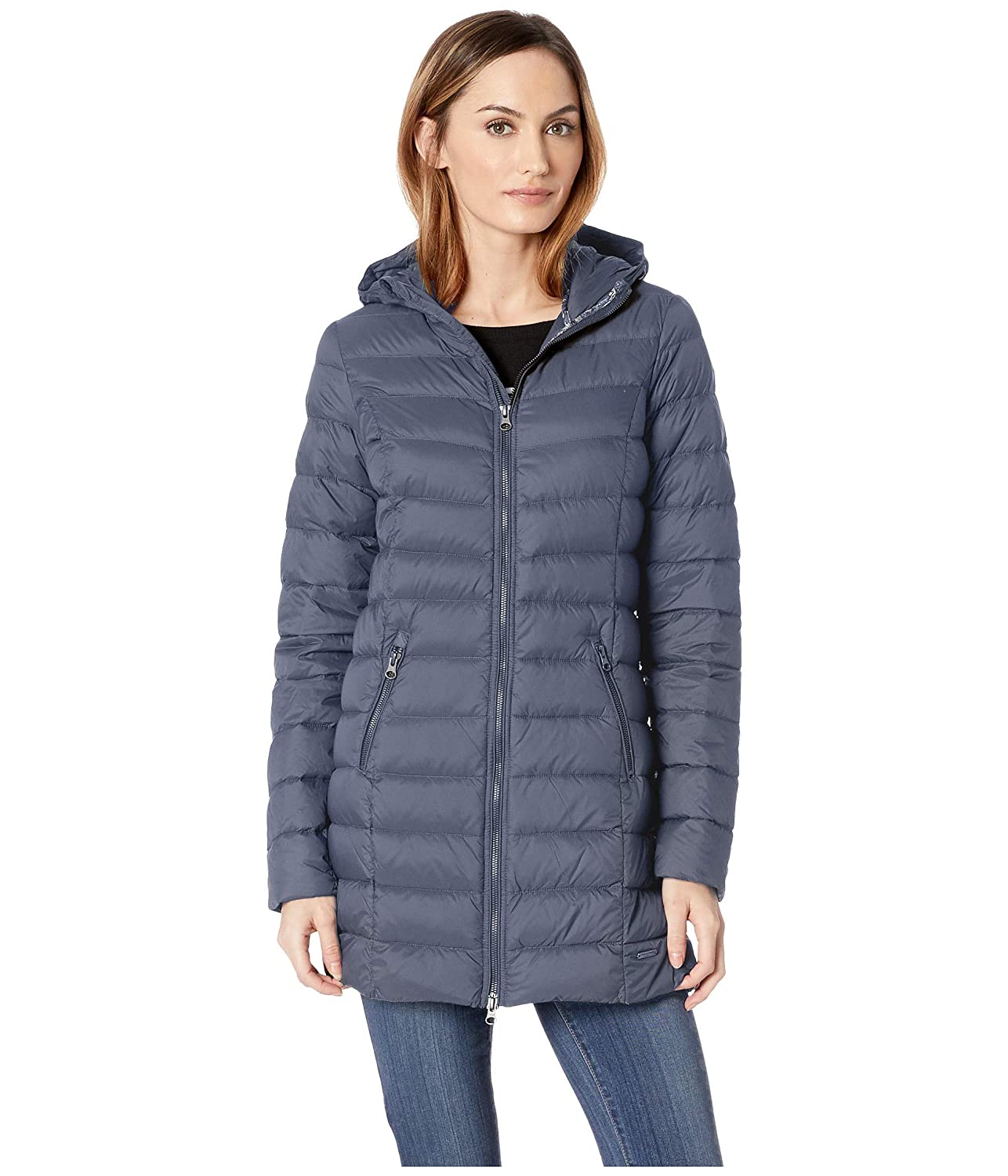 bf3af3334 ILSE JACOBSEN Blue Grayness Light Down Coat 44 at Amazon Women's ...