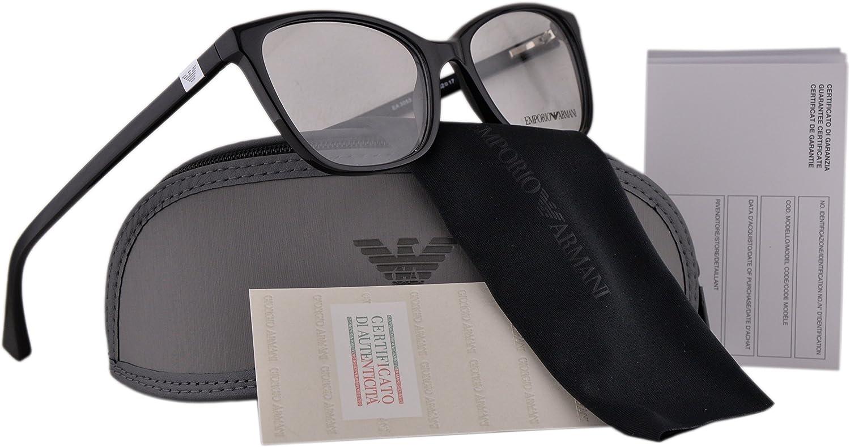 Emporio Armani EA 3053 Gafas 52-17-140 Negro con Lentes de Muestra 5017 EA3053: Amazon.es: Ropa y accesorios