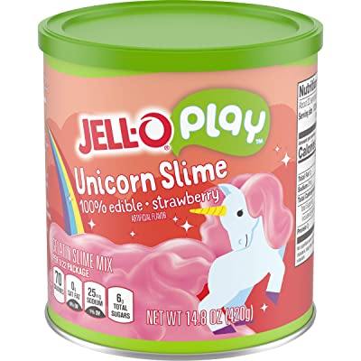 Jell-O Play Dessert Kit, Strawberry Unicorn Slime, 14.8 oz : Grocery & Gourmet Food