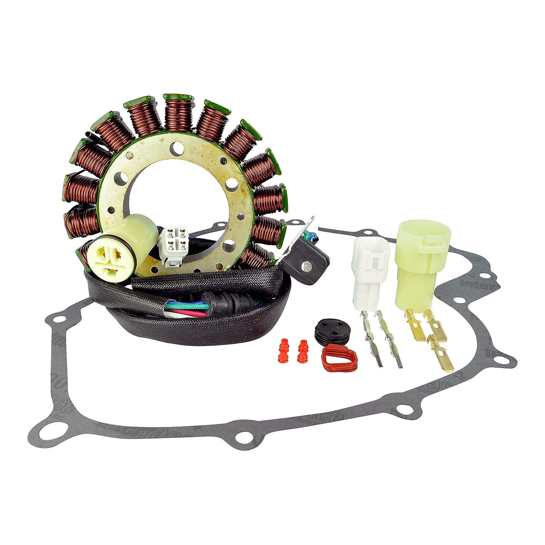 Kit High Output Stator + Gasket For Yamaha YFM 660 Grizzly 2002-2006 & YXR 660 Rhino 2004 2005 2006 2007 2008 OEM Repl.# 5KM-81410-00-00 5KM-81410-01-00 5UH-81410-00-00 5KM-15451-00-00 RMSTATOR