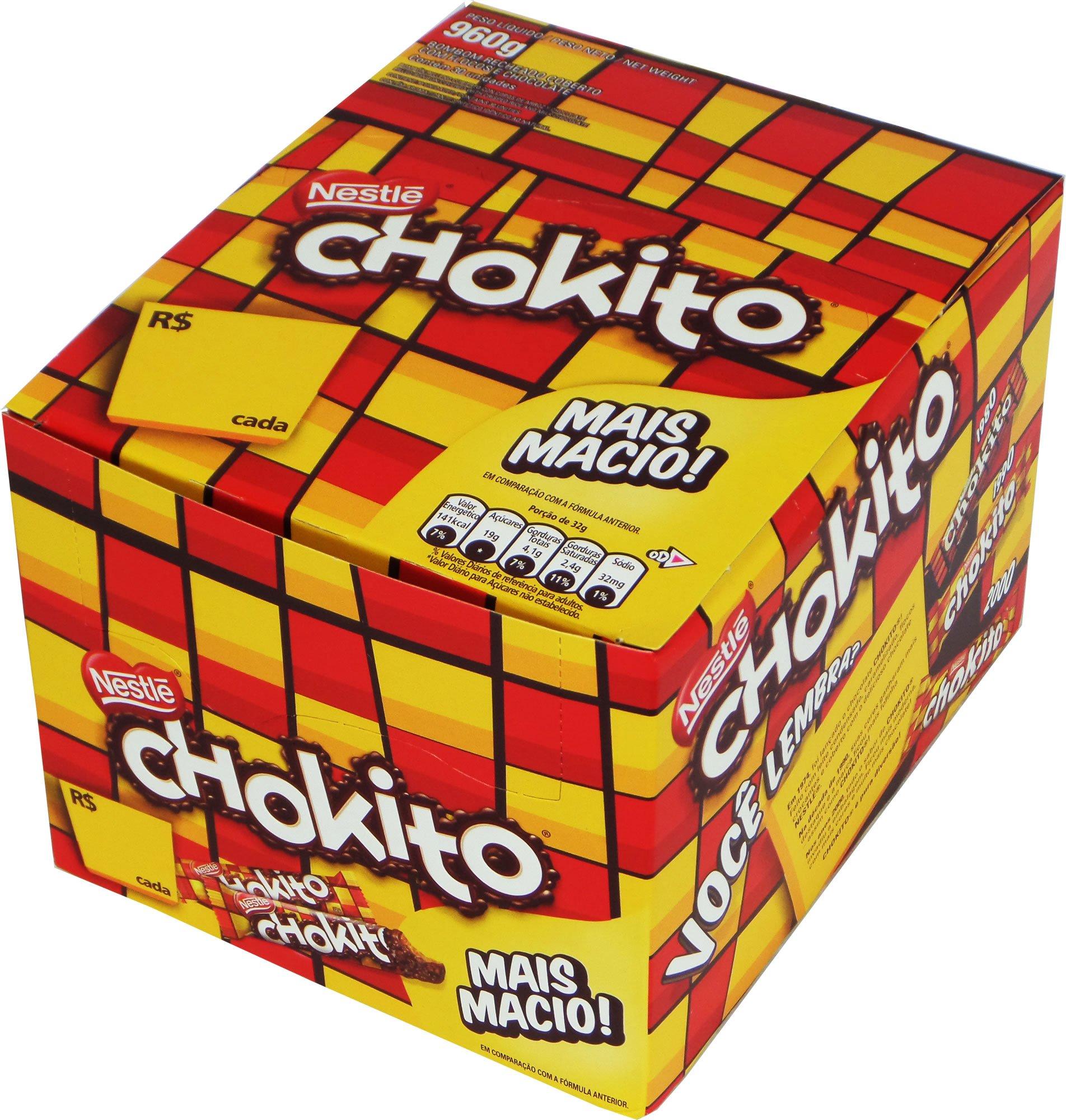 Nestlé - Chokito - Chocolate Bar Filling w/ Caramel - 1.16oz (PACK OF 30)   Barra de Chocolate Recheado c/ Caramelo - 32g