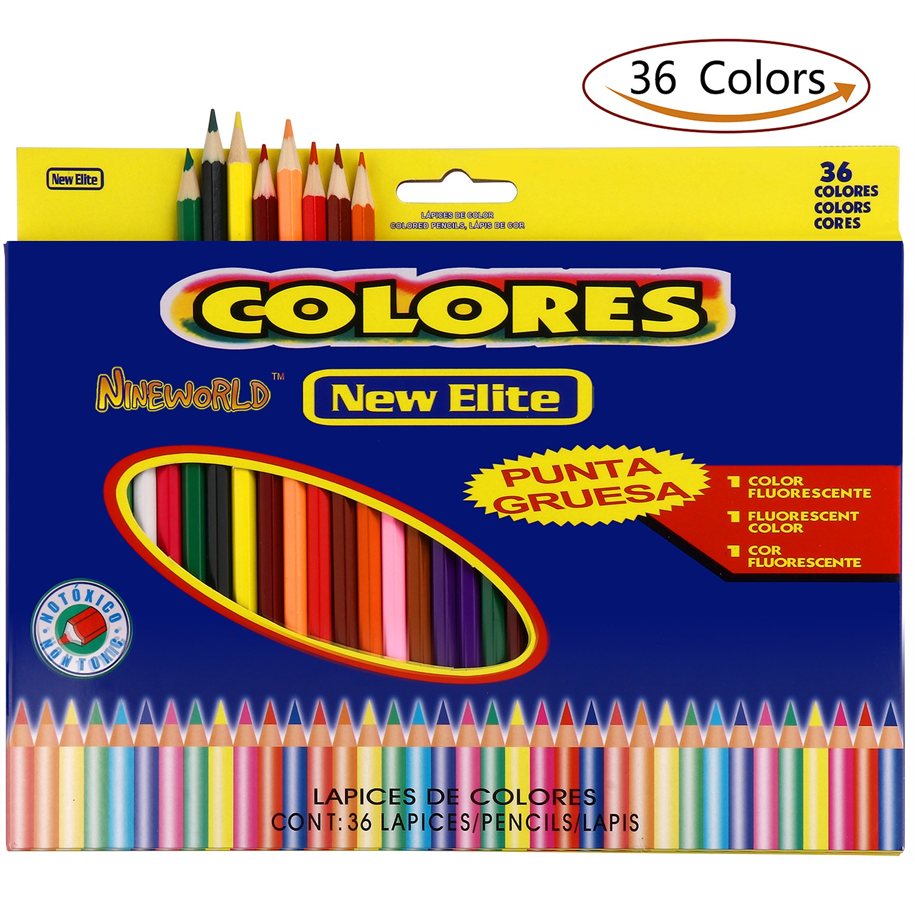 Colored Pencils + Coloring Books , Premium Assorted Oil Based coloring Pencils Set (36 Unique Color) with Thick Cores for Kids & Adults Artwork Coloring, Drawing ,Sketching , Painting