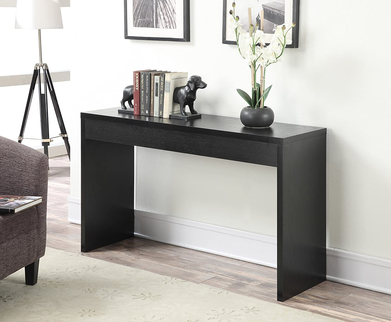 Amazon convenience concepts northfield hall console table amazon convenience concepts northfield hall console table black kitchen dining geotapseo Image collections