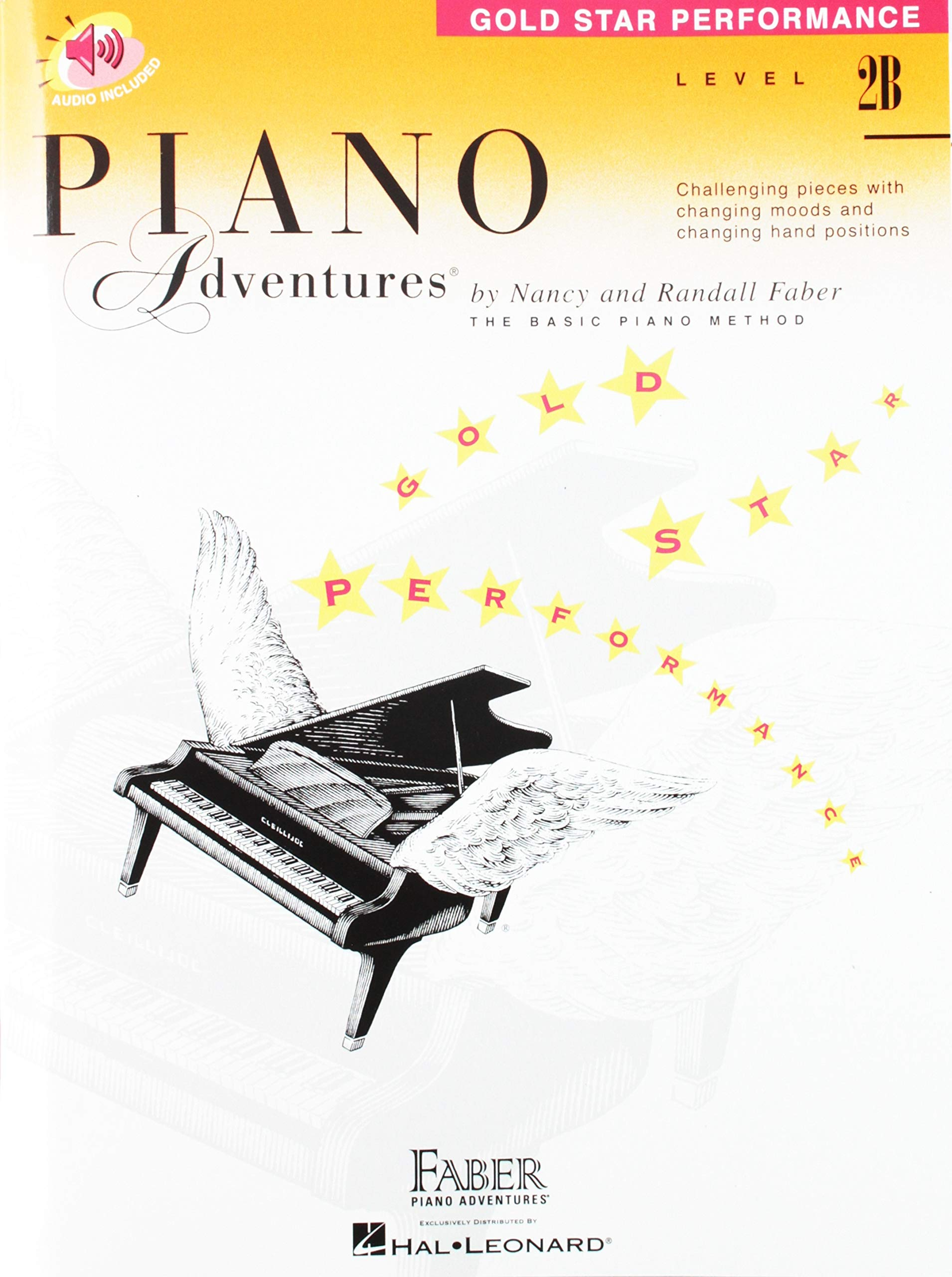level 2b gold star performance with audio piano adventures