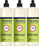Mrs. Meyer's Clean Day Liquid Dish Soap, Cruelty Free Formula, Lemon Verbena Scent