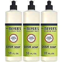 Mrs. Meyer's Clean Day Liquid Dish Soap, Cruelty Free Formula, Lemon Verbena Scent, 16 Oz- Pack of 3