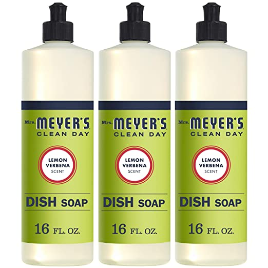 Mrs. Meyer's Clean Day Liquid Dish Soap, Lemon Verbena, 16 ounce bottle (3 count)