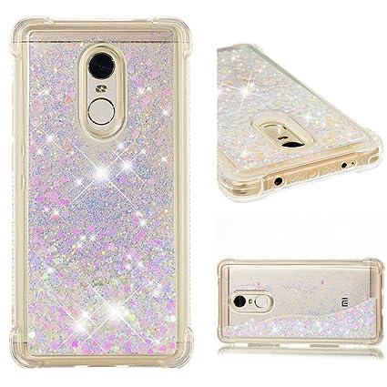 Funluna Funda Xiaomi Redmi Note 4X / Redmi Note 4, Carcasa Glitter Líquido 3D Bling Silicona Flowing Brillar Sparkle Cristal Choque Absorción Cubierta ...