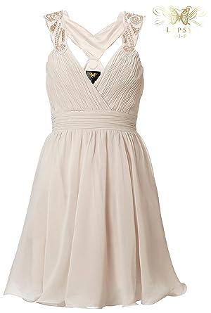 Lipsy VIP Babydoll Prom Dress with Embellished Shoulder Strap (16, Hushed Violet)