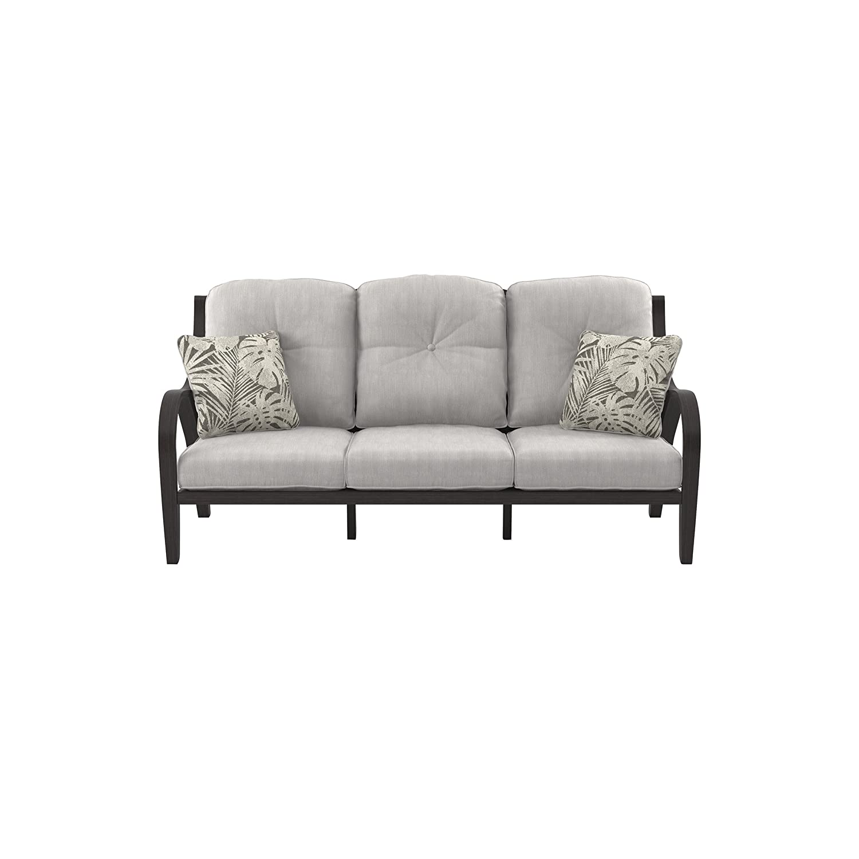 Amazon com ashley furniture signature design marsh creek outdoor sofa with cushion brown gray garden outdoor
