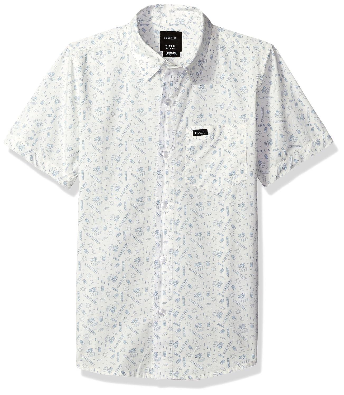 RVCA Boys Big Sea /& Destroy Short Sleeve Shirt